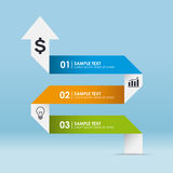 Business infographic. Template with 3 options. Vector illustration Royalty Free Stock Photos