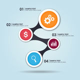 Business infographic. Template with 4 options. Vector illustration Stock Images