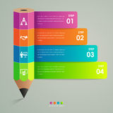 Business infographic template pencil concept Royalty Free Stock Photography