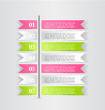 Business infographic template for presentation, education, web design, banner, brochure, flyer. Royalty Free Stock Photography