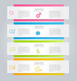 Business infographic template for presentation, education, web design, banner, brochure, flyer. Royalty Free Stock Photo