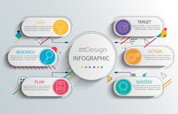 Business infographic template for presentation. Stock Image