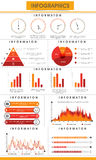Business infographic template for professional reports presentation. Creative business infographics template with statistical graphs, pie charts and paper bars Royalty Free Stock Photo