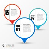 Business infographic template with 3 steps. Vector. Illustration Royalty Free Stock Image