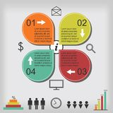 Business infographic template. Vector infographic elements for business presentation Royalty Free Stock Image