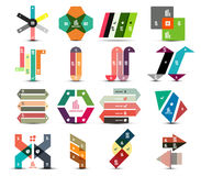 Business and infographic templates banners set Royalty Free Stock Images