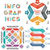 Business infographic templates concept vector illustration. Abstract banner set. Advertising promotion layout collection. Business infographic templates concept Stock Image