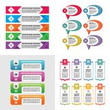 Business infographic templates concept vector illustration. Abstract banner set. Advertising promotion layout collection. Business infographic templates concept Stock Photo