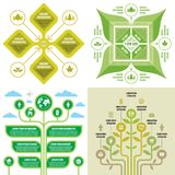 Business infographic templates concept vector illustration. Abstract ecology banner set. Advertising promotion layout collection f. Or presentation. Nature icons Vector Illustration