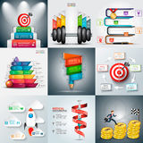 Business infographic templates. Royalty Free Stock Photo