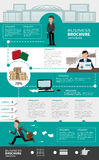 Business infographic templates with people Royalty Free Stock Photography