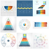 Business Infographic Templates for text area nine position Stock Images