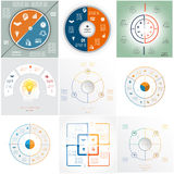 Business Infographic templates Stock Images
