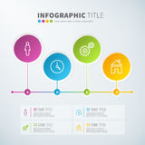 Business infographic time line chart statistics with icons. For reports and presentations. Vector illustration Stock Image