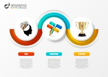 Business infographic timeline concept with 3 steps. Vector. Illustration Royalty Free Stock Image