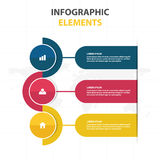 Business Infographic timeline process template, Colorful Banner text box desgin for presentation, presentation for workflow Royalty Free Stock Photography
