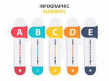 Business Infographic timeline process template, Colorful Banner text box desgin for presentation, presentation for workflow Royalty Free Stock Images