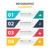 Business Infographic timeline process template, Colorful Banner Stock Photos