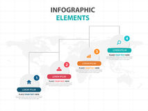 Business Infographic timeline process template, Colorful Banner text box desgin for presentation, presentation for workflow. Diagram design Royalty Free Stock Images