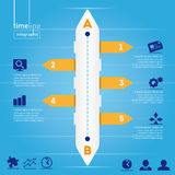 Business Infographic: Timeline style, with origina Royalty Free Stock Photos