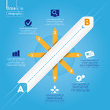 Business Infographic: Timeline style, with original icons. Royalty Free Stock Photo