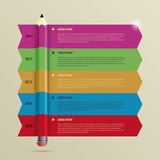 Business Infographic timeline Template with Pencil. Vector Stock Image