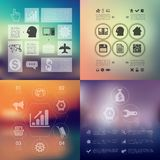 Business infographic with unfocused background. It is a beautiful vector infographic with unfocused background Stock Image