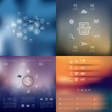 Business infographic with unfocused background. It is a beautifulbusiness vector infographic with unfocused background Stock Photo