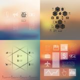 Business infographic with unfocused background. Business vector infographics with unfocused blurred background Stock Image