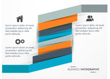 Business infographic with various features. Royalty Free Stock Photo