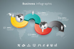 Business infographic. In vector format Stock Photo