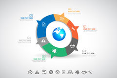 Business infographic Royalty Free Stock Photos