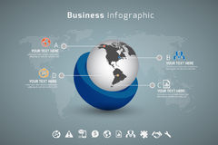 Business infographic. In vector format Royalty Free Stock Image