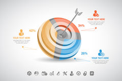 Business infographic. In vector format Royalty Free Stock Photography