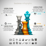 Business Infographic. Vector illustration of business infographic made of chessman Royalty Free Stock Photos