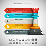 Business Infographic. Vector illustration of business infographic made of chessman Royalty Free Stock Photography