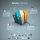 Business infographic Stock Image