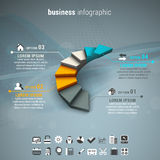 Business infographic Royalty Free Stock Photography