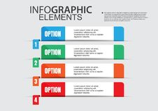 Business infographic vector  paper file. Banner idea design number education concept art timeline Organization step Stock Images