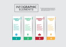 Business infographic vector paper file step. Business infographic vector  paper file banner idea design number education concept art timeline Organization step Royalty Free Stock Images