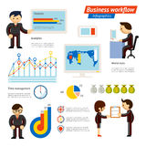 Business Infographic Workflow Illustration Royalty Free Stock Photos