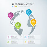 Business infographic world statistics with icons. For reports and presentations. Vector illustration Stock Photography