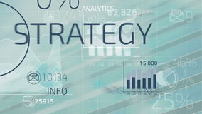 Business infographics. Abstract infographics animation of financial stock data