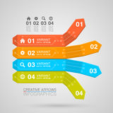 Business Infographics arrow origami style Stock Photography