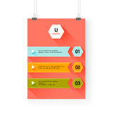 Business infographics background.Layer template , vector Royalty Free Stock Image