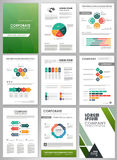 Business infographics and backgrounds set Royalty Free Stock Image