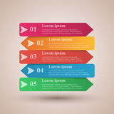Business Infographics box origami style Vector illustration. List of 10 items. Royalty Free Stock Photos