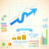 Business Infographics Chart. Illustration of Business Infographics Chart Royalty Free Stock Photography