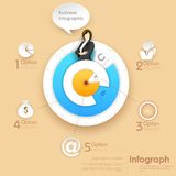 Business Infographics Chart Royalty Free Stock Image