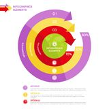 Business Infographics circle with arrows Stock Image